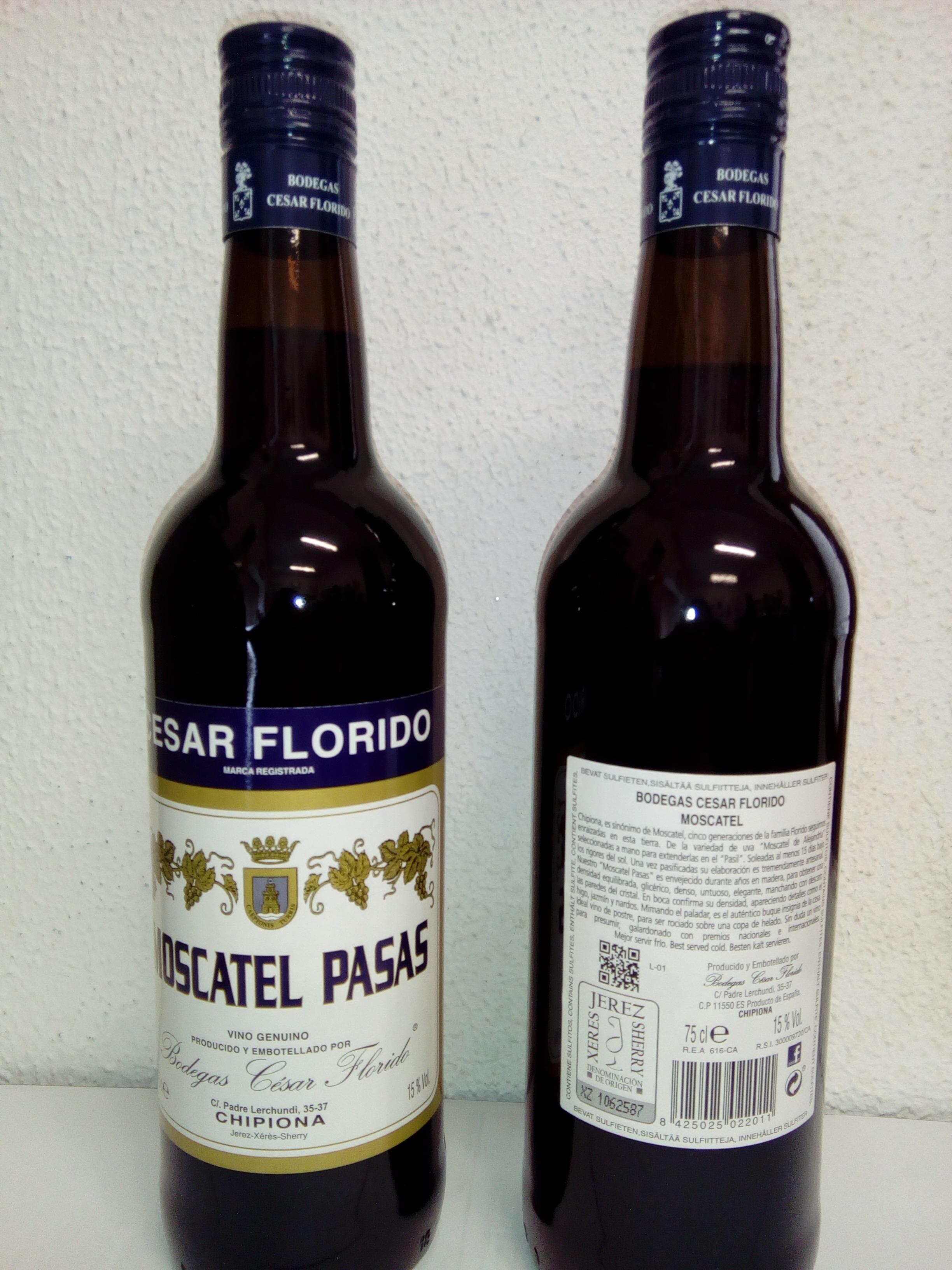 Moscatel Pasas