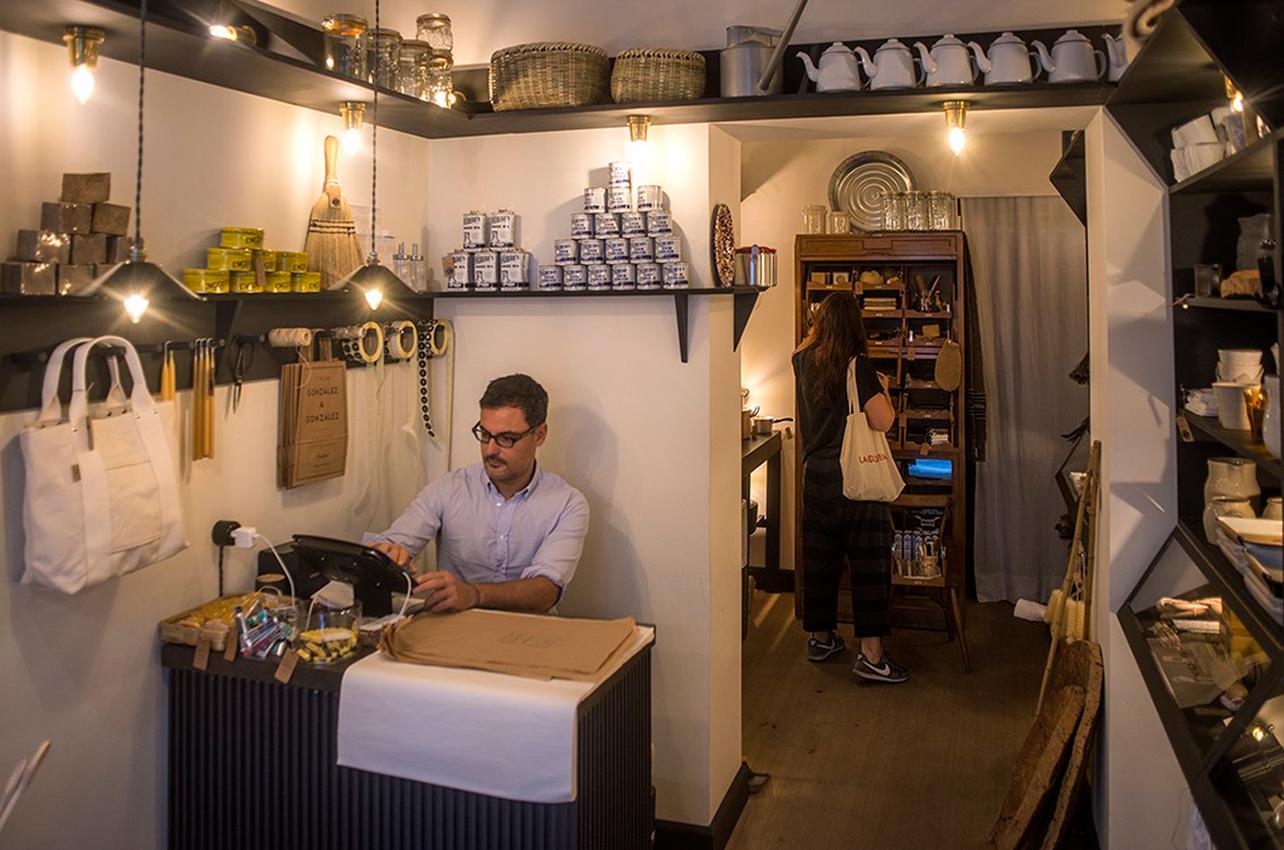 Interior de la tienda 'González & González'. Foto: Alfredo Cáliz