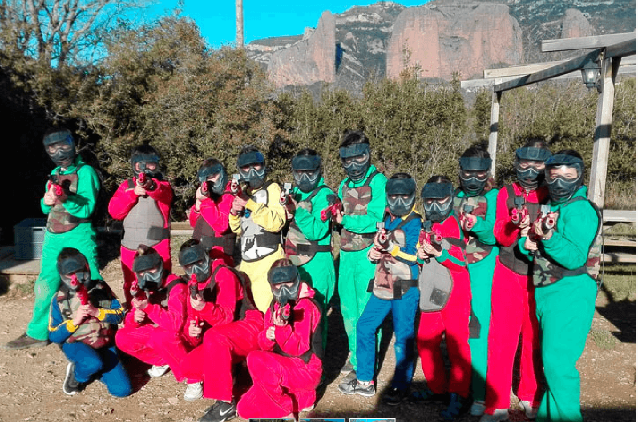 Paintball para niños de 7 a 13 años en Zaragoza