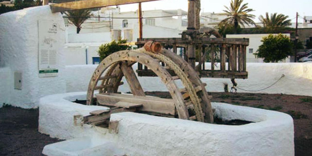 Noria, lavadero, aljibes de El Pozo de los Frailes