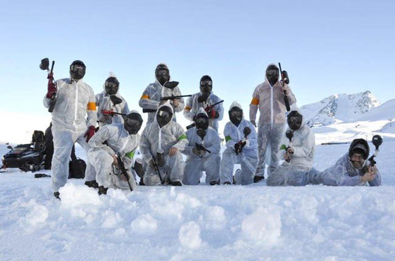 Paintball sobre nieve en Huesca