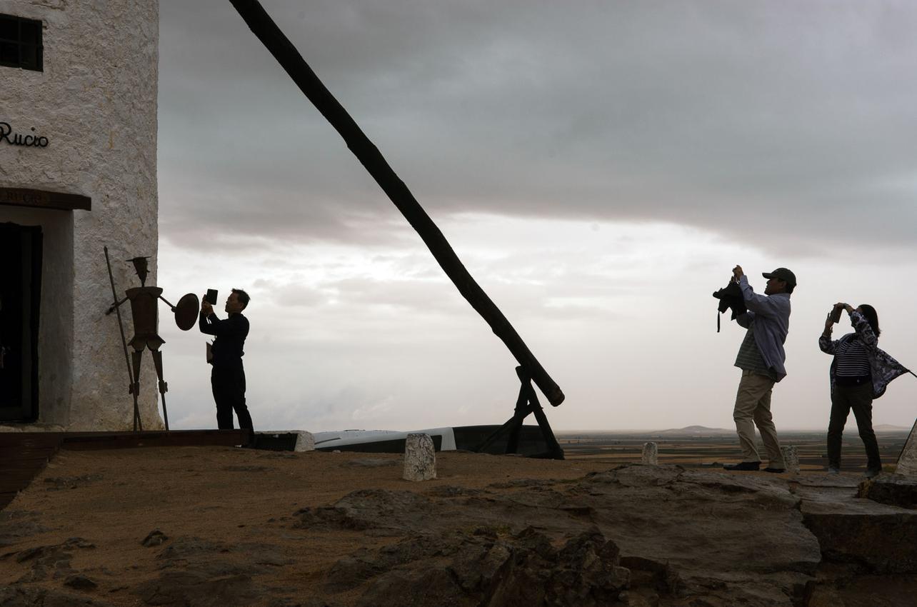 Los visitantes del Cerro Calderico. Foto: Manuel Ruiz Toribio