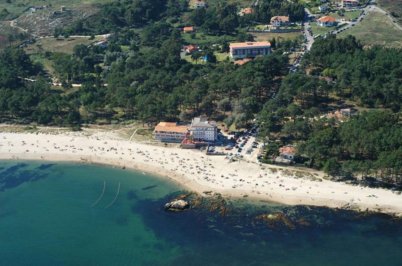 Vista aéra de la playa de O Muiño. A Guarda. (Foto: Guía Repsol.)