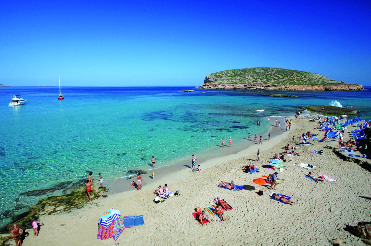 Panorámica playa Cala Conta