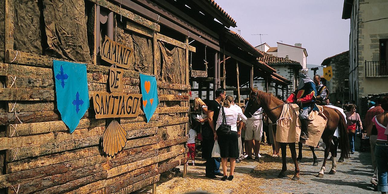 Mercado de antaño de Artziniega