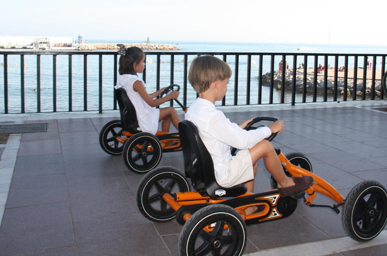 Dale a los pedales del 'buggy'. Foto: Johanna Saldón