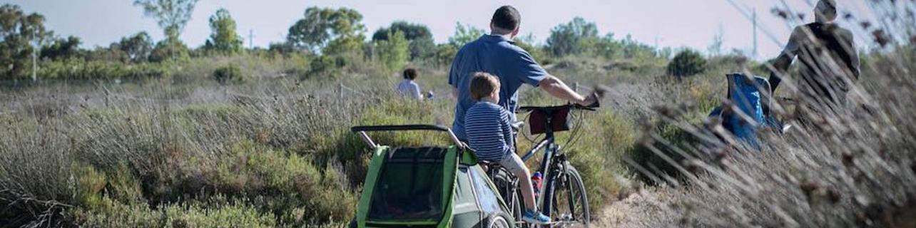 Pedalear con los niños por el Delta del Ebro