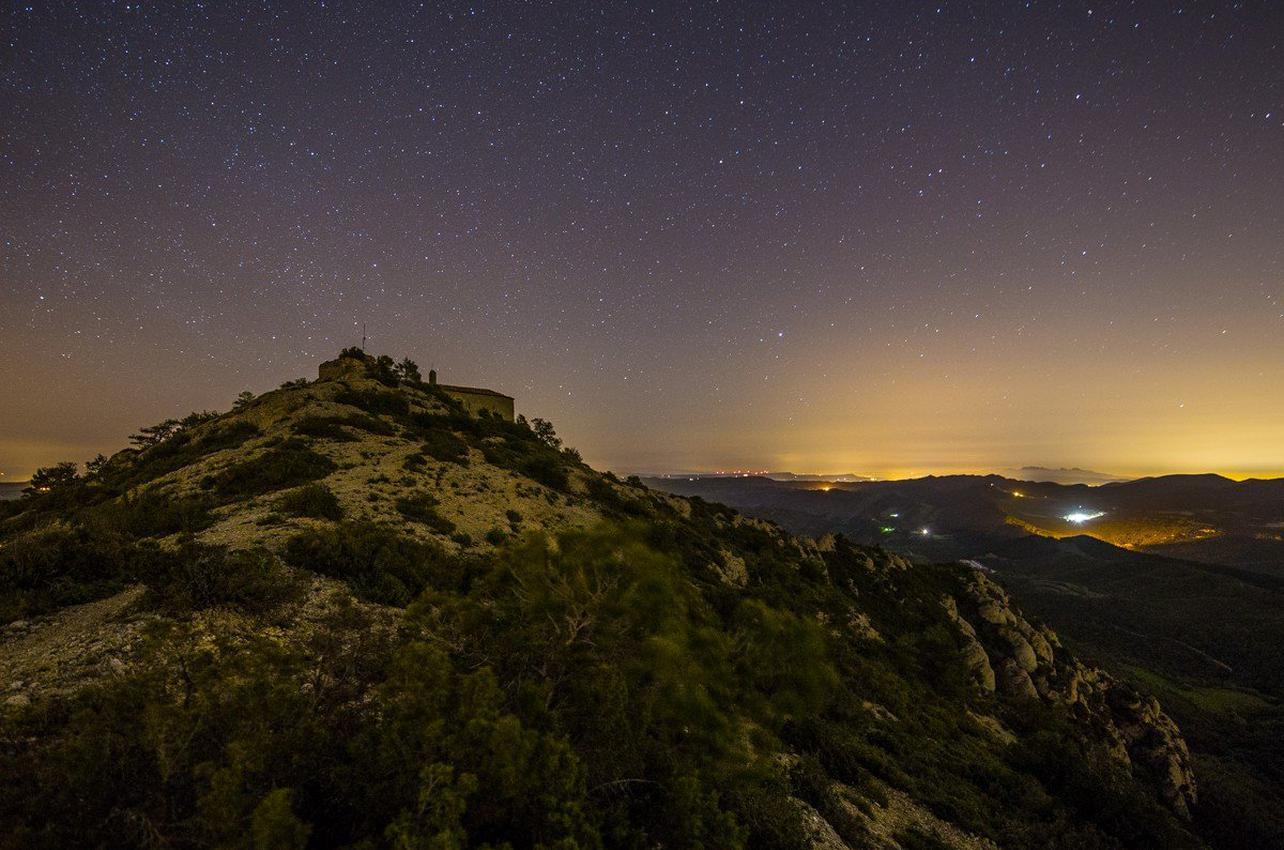 Observación astronómica en la Conca de Barberà