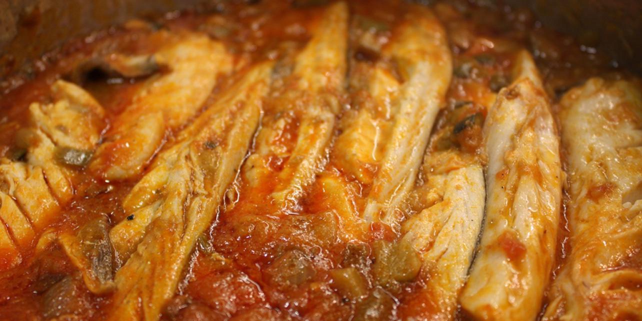 Pimentón con pescado