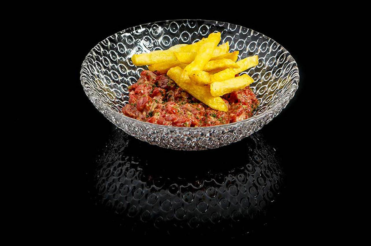 El steak tartar sobresaliente de Meating. Foto: restaurantemeating.com